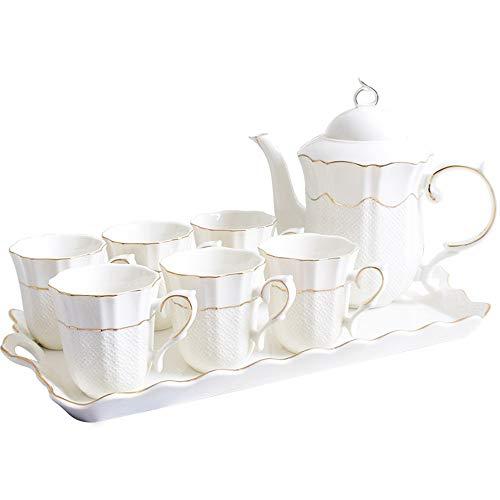 European bone china tea set hand-painted Phnom Penh kettle set household water juice juice cup tray
