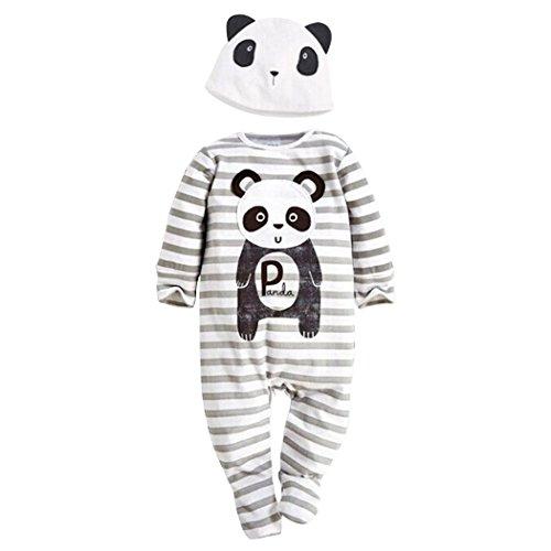 Witch Wig Stripes (YISUMEI Unisex Baby Costume Set Romper Bodysuit Jumpsuit Panda Stripe 6 Months)