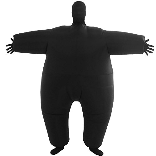 Group Halloween Costumes (VOCOO Lnflatable Costumes Adult Size Inflatable Body Suits Pants (black))