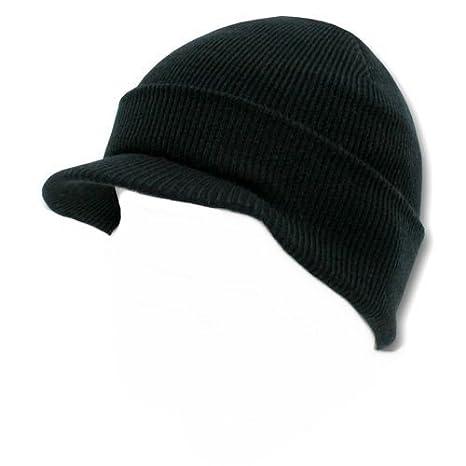 3369cd2a7805e Bonnet Casquette avec visière - Coloris Noir - Airsoft - Paintball - Ski -  Chasse -