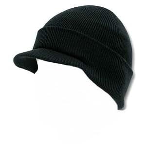 Gear - Gorro con visera (apto para usar en exteriores, en esquí, caza, pesca y también en airsoft y paintball), diseño al estilo hip-hop, color negro