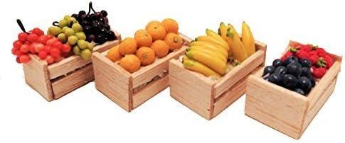 Amazon.es: Melody Jane Casa de Muñecas Cajas de Fruta Frutería Cajas Tienda Tienda Accesorio: Juguetes y juegos