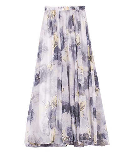 Plage Casual vase Floral Grande Fluide 2 Taille de Mousseline Bohme t Style Plisse lastique Femme Soie en Longue Dress Imprim Boho Flamenco 8zqHxwUz