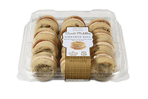 Our Specialty Sweet Middles, Peanut and Tree Nut Free, Mini Cream Filled Sandwich Cookies, Cinnamon Roll, 12 Cookies per Pack, Pack of - Cinnamon Sweet Cookies