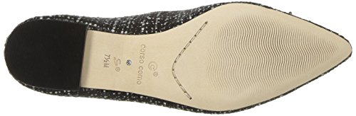 Como Recital Women's Opportunity Tweed Flat Ballet Corso white Black Shoes 7qExxwTCf