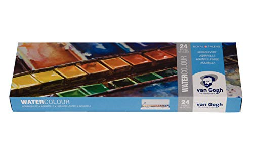 Paint Set, Metal Tin, 24-Half Pan ()