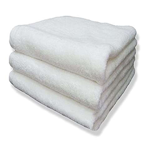 Hotel toallas, toalla, 100% algodón, pack de 4, color blanco: Amazon.es: Hogar