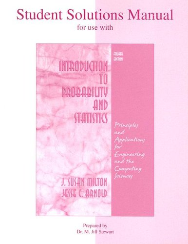 Student Solutions Manual to accompany Introduction to Probability and Statistics