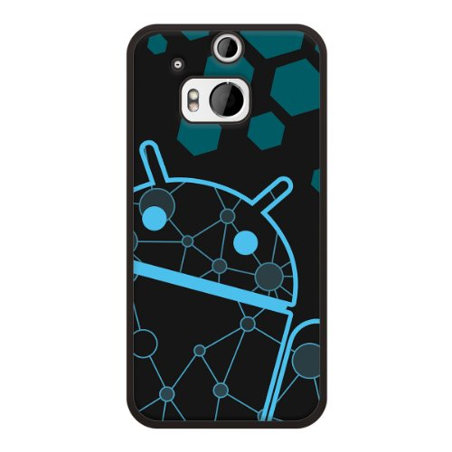 HTC One M8 Case, Cruzerlite Print Cases (PC Case) Compatible with HTC All New One (M8) 2014 - DNA Blue