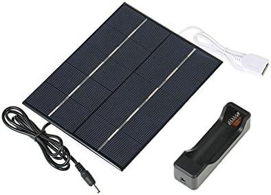 Tidyard 3.5W 5V Panel solar de silicona policristalina de células solares para cargador de energía Puerto USB 18650 de carga de la batería