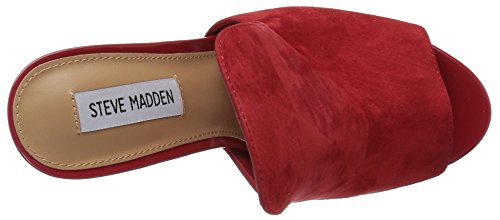 para Madden Steve Sinful Red Rojo Suede Mujer rpEpWT