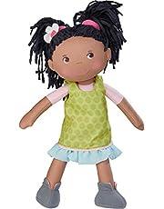 Haba 304576 - pop Cari, 30 cm, zachte en stoffen pop voor kinderen vanaf 18 maanden, met uittrekbare kleding en lange haren