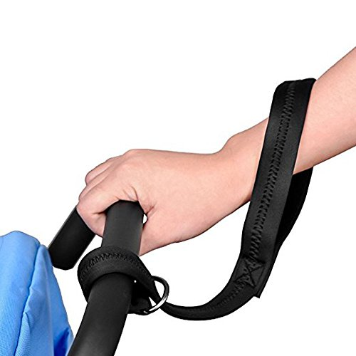 Baby Stroller Pram Safety Belt Wrist Strap Infant Kid Carriage Harness Anti Lost with Stroller Hook- Luxury Velcro Stroller Hooks Prefect for Diaper Bags, Toys, Stroller Accessories, Baby Changing Pad by YHAN (Image #2)