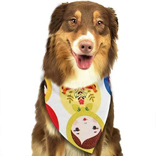 Dog Bandana Russian Matryoshka Nesting Dolls Bright Triangle Bibs Scarf Printing Kerchief Set Accessories Dogs Cats Pets]()