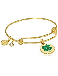 Halos & Glories,4 Leaf Clover Bangle Bracelet