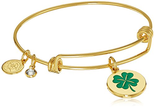 4 Leaf Clover Bracelet (Halos & Glories, 4 Leaf Clover Shiny Gold Bangle Bracelet)