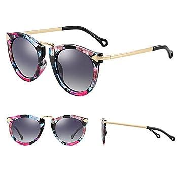 2DAWANG TM Gafas de Sol Mujer Cuadro V Cara Cara pequeña ...