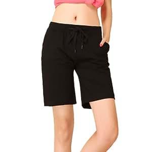 """Women's Pure Color Sports Pant Plus Size Yoga Clothing (black, 2XL: waist:32.8""""-34.12"""")"""
