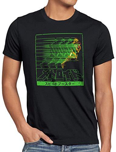 hombre Metroid Hunter Snes Rapid Nerd Hormiga Nes Geek Gamer Camiseta para Ewq6xZH