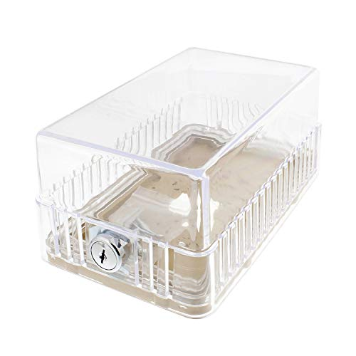 Clear Thermostat - BISupply   AC Thermostat Cover with Lock, AC Thermostat Lock Box Cover Thermostat Guard with Lock, 7.7 x 3.3 x 4.75 Inch