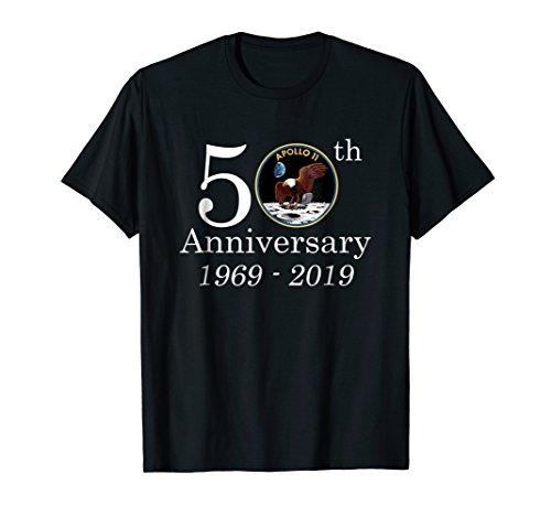 50th Anniversary 1969-2019 Apolo 11 Shirt NASA Moon Landing