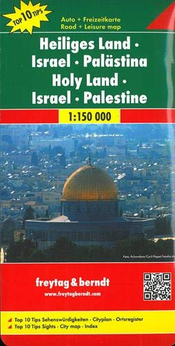 Freytag Berndt Autokarten Heiliges Land   Israel   Palästina   Maßstab 1 150 000