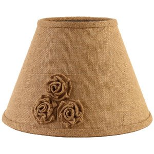 The Country House 12 inch Burlap Rosette Lamp Shae