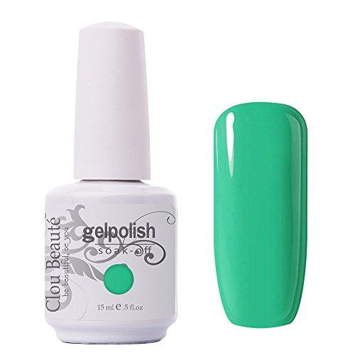 Clou Beaute Gelpolish 15ml Soak Off UV Led Gel Polish Lacquer Nail Art Manicure Varnish Color Green 1622 from Clou Beaute