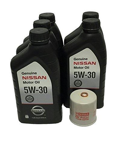 - Genuine Nissan 5W-30 Oil Change Kit 5 Quarts 15208-65F0E