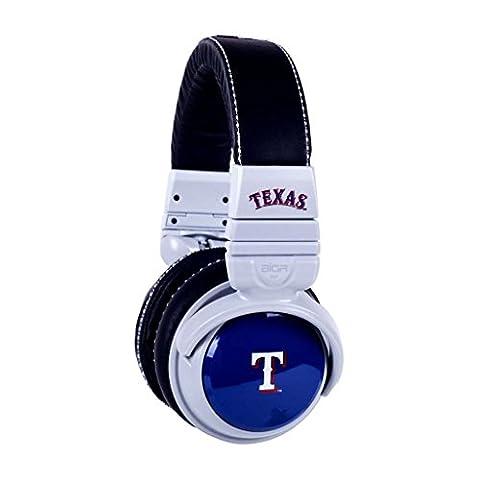 BiGR Audio MLB Licensed Over-ear Headphones with Mic, Texas Rangers (Bigr Audio Cable)