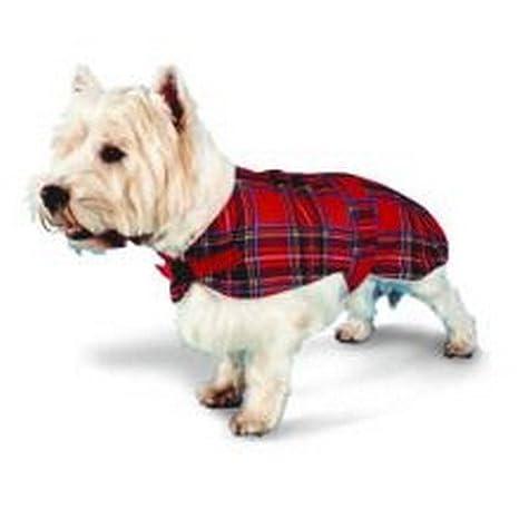 Yorkshire Cuero Company LTD TA Pennine Ta Ta forro de piel abrigo - Tartán Rojo, 30cm: Amazon.es: Productos para mascotas
