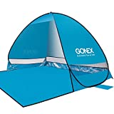 Gonex Lightweight Beach Shade Tent Sun Shelter, Automatic Pop up Instant Portable Family Anti UV Cabana Blue