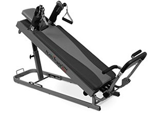 Pilates Power Gym Plus Ultimate Pilates Power Gym mini reformer with Push Up Bar and 3 Celebrity Trainer Pilates Workout DVDs. Pilates Power Gym Push Up Bar included
