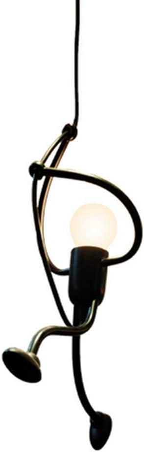 DAXGD Planchar Luz colgante, lámparas de techo de diseño creativo de dibujos animados de hierro para niños, dormitorio de niños, E27, bombilla no incluida
