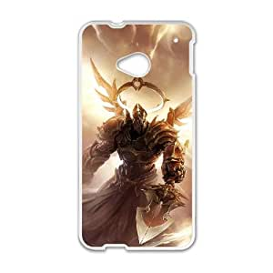 Diablo HTC One M7 Cell Phone Case White Customized Toy pxf005_9677121