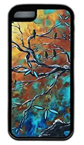 MEIMEIAbstract Bird Art Painting DIY Rubber Black ipod touch 4 Case On Custom ServiceLINMM58281