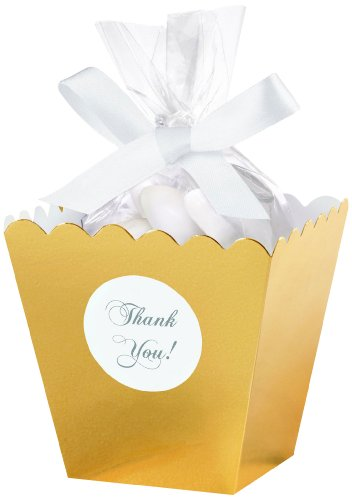 (Wilton 415-0521 Gold Popcorn Box Favor Kit, 50)