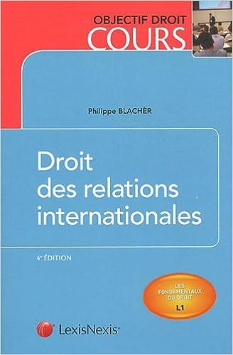 Livre gratuits Droit des relations internationales pdf epub
