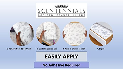 Scentennials BLUE PARADISE (12 SHEETS) Scented Fragrant Shelf & Drawer Liners 16.5'' x 22'' - Great for Dresser, Kitchen, Bathroom, Vanity & Linen Closet by Scentennials (Image #3)