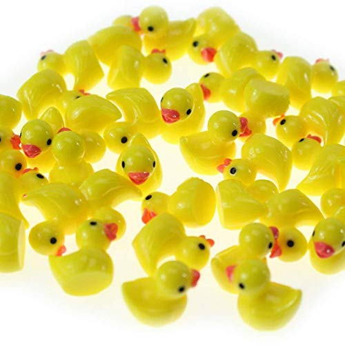 Miniature Figurines Yellow Ducklings Fairy Garden 20Pcs Ornaments Slime Charms Home Decorations Landscape Mini Resin Statue Resin DIY Craft Figurine (Yellow)