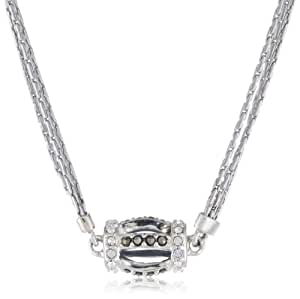 "Judith Jack ""Tassels"" Sterling Silver Marcasite Crystal Multi-Chain Barrel Pendant Necklace, 18"""