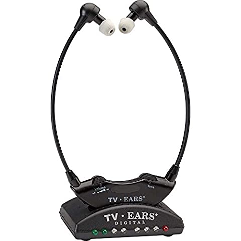 TV Ears Digital TV Headset System - Wireless, Voice Clarifying, Doctor Recommended, 11741 - Version 5.0