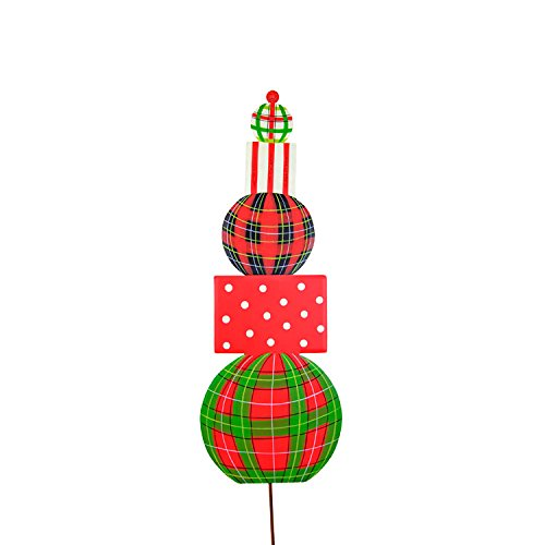 Topiary Reindeer (The Round Top Collection Plaid Topiary Large - Metal)