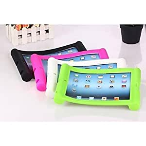 Solid Color Silicone Case with Stand for iPad2/3/4 ( Color : Black ) by ruishername