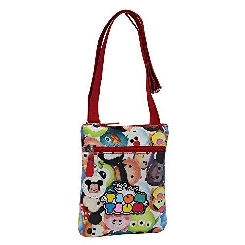 Tsum Tsum Tracolla con Tasca Frontale, Multicolore, 1 Litri, 24 cm