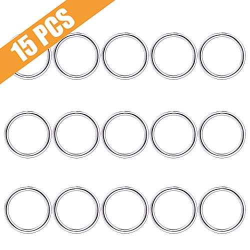 (Keychain Ring, Lucky Goddness 15pcs Non-Welded O Ring- Perfect for Key Clips, Dog Collar, Purse Hardware Suplies, DIY Project, Handmade Crafts (38mm Diameter))