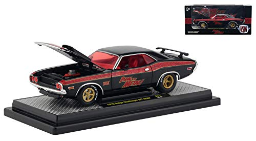 1970 Dodge Challenger R/T HEMI Pedal to The Metal! Black Pearl Limited Edition to 5,800 Pieces Worldwide 1/24 Diecast Car by M2 Machines 40300-72 A (Pedal Diecast Car)