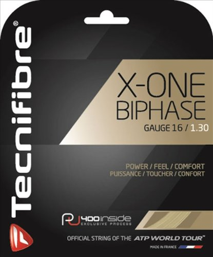 Tecnifibre X-One Biphase (16-1.30mm) String Set (Natural) by Tecnifibre (Image #2)