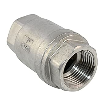 1 Quot Check Valve Wog 1000 Spring Loaded In Line Stainless