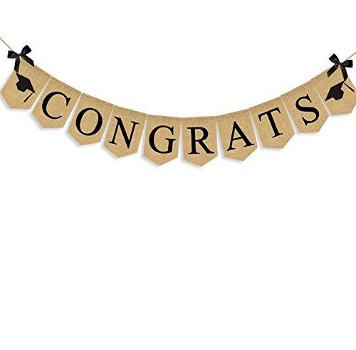 EBTOYS Congrats Banner Graduation Party Bunting Banner Garland Graduation Party Supplies]()